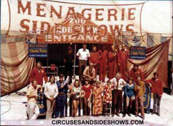 Clyde Beatty Cole Bros Sideshow 1972